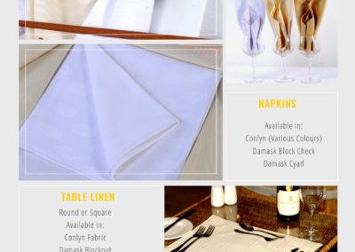 Middle Cast Catalogue Contemporary Linens - Banqueting 2