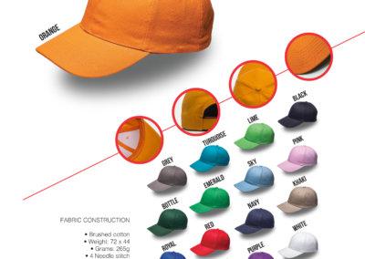Headwear Catalogue 4 - 6 Panel Brushed Cotton