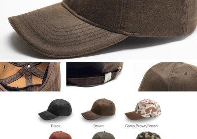 Headwear Catalogue 129 - Washed Oil Skin 6 Panel