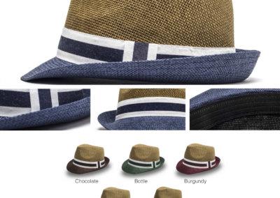 Headwear Catalogue 136 - Two-Tone Straw Mens Fedora