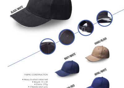 Headwear Catalogue 15 -  Metal Sandwich Peak