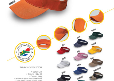 Headwear Catalogue 20 - Twill Visor