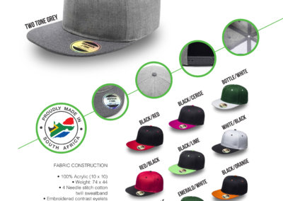Headwear Catalogue 30 - Snapback Two-Tone