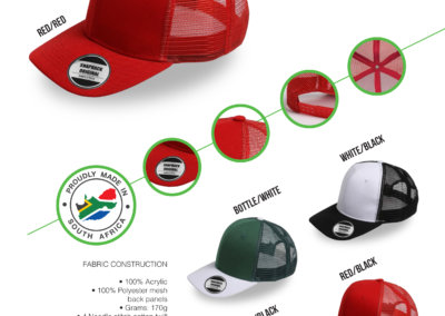 Headwear Catalogue 33 - Snapback Mesh Curved Peak