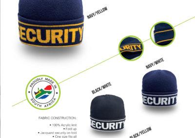 Headwear Catalogue 46 - Security Cuffed Beanie