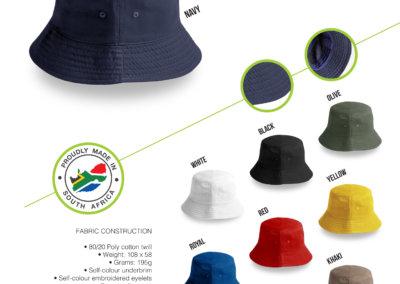 Headwear Catalogue 48 - SA Bucket Hat - No Band