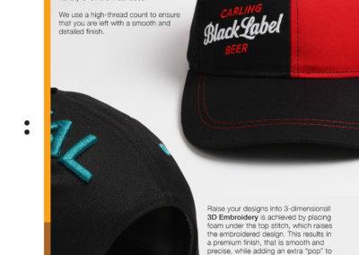 Headwear Catalogue 75 - Flat & 3D Embroidery