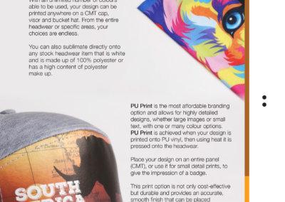 Headwear Catalogue 76 - Sublimation & PU Print