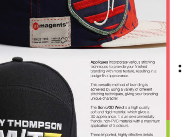 Headwear Catalogue 78 - Appliques Sonic Weld