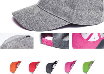 Headwear Catalogue 88 - Grey Melange Single Jersey 6 Panel