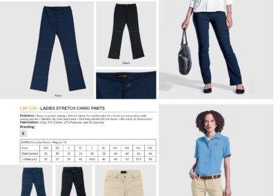 Barron On Workwear Catalogue 128 - Bottoms Ladies Statement Stretch Pants
