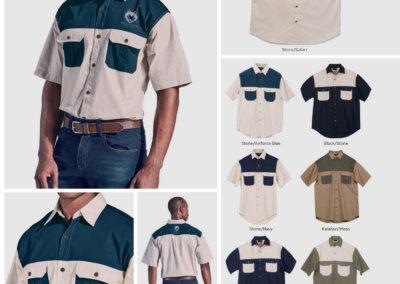 Barron On Workwear Catalogue 143 - Outdoor & Leisure Tow Tone Bush Shirt