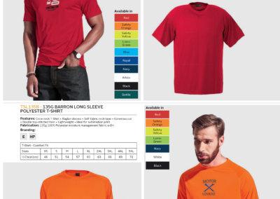 Barron On Workwear Catalogue 147 - Outdoor & Leisure 135G Barron Polyester t-shirt