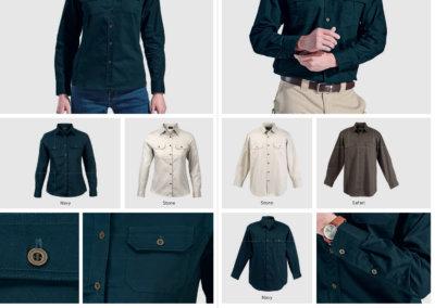 Barron On Workwear Catalogue 142 - Outdoor & Leisure Ladies Bush Shirt Long Sleeve