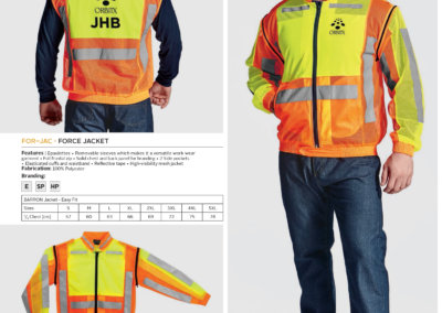 Barron On Workwear Catalogue 52 - High-Visibility Workwear Force Jacket