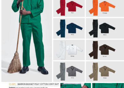 Barron On Workwear Catalogue 66- Protective Outerwear Contract Poly Cotton Conti Suit