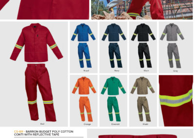 Barron On Workwear Catalogue 68 - Protective Outerwear Barron Budget Poly Cotton Conti With Reflective Tape