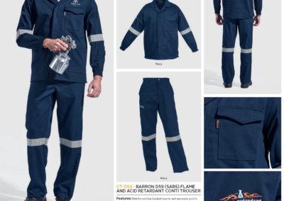 Barron On Workwear Catalogue 76 - Protective Outerwear Barron D59 (SABS) Flame And Acid Retardent Conti Jacket